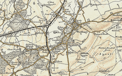 Old map of Westbury in 1898-1899