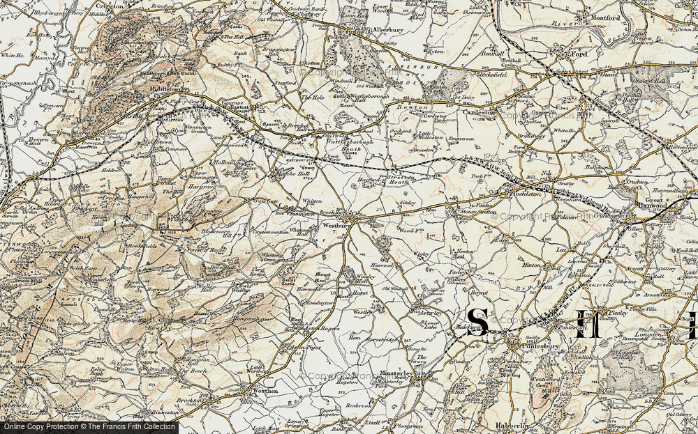 Old Map of Westbury, 1902 in 1902