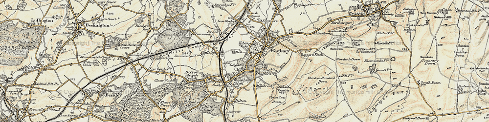 Old map of Westbury Leigh in 1898-1899
