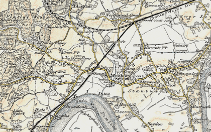 Old map of Adsett in 1898-1900