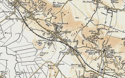 Old map of Westbury-sub-Mendip in 1899