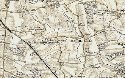 Old map of Westby in 1902-1903