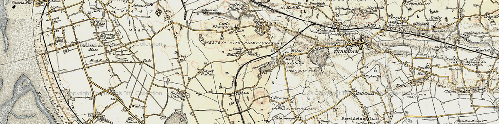 Old map of Westby in 1903