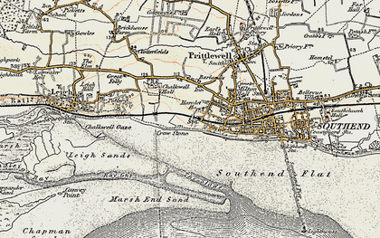 Old map of Westcliff-on-Sea in 1897-1898