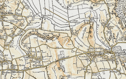Old map of Bancombe Hill in 1898-1900