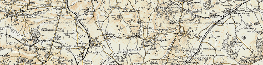 Old map of Westcombe in 1899