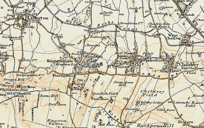 Old map of Westcot in 1897-1899