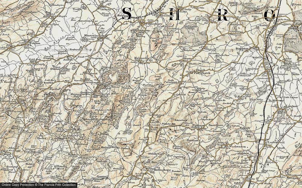 Old Map of Westcott, 1902-1903 in 1902-1903