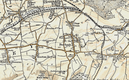 Old map of Westcourt in 1897-1899