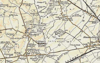 Old map of Westcroft in 1898-1901