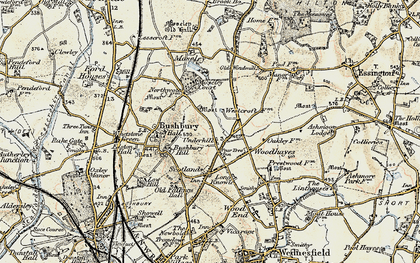 Old map of Westcroft in 1902