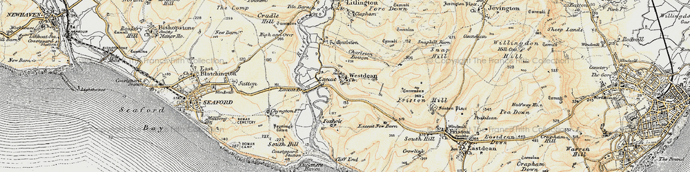 Old map of Westdean in 1898