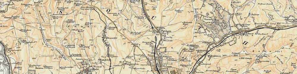 Old map of Westdene in 1898