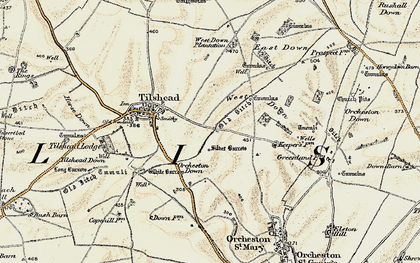 Old map of Westdown Camp in 1898-1899