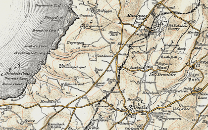 Old map of Westdowns in 1900