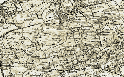 Old map of Wester Auchinloch in 1904-1905