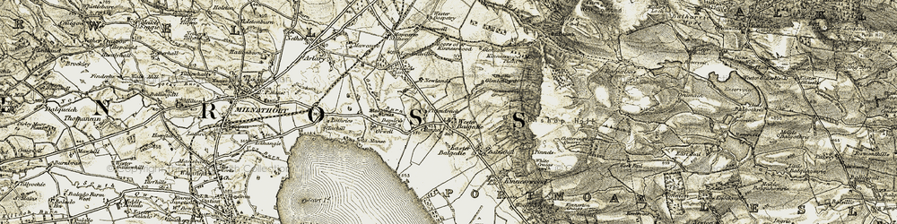 Old map of Wester Balgedie in 1903-1908