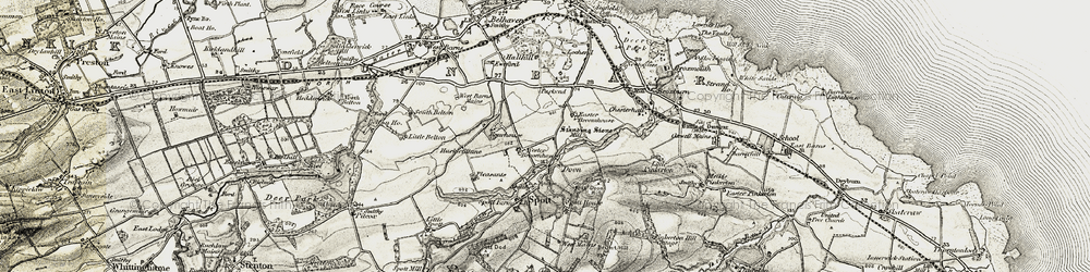 Old map of Wester Broomhouse in 1901-1906