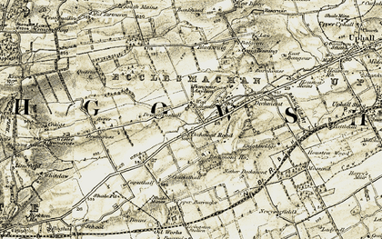 Old map of Wester Dechmont in 1904