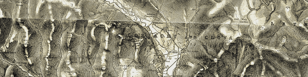 Old map of Wester Eggie in 1908