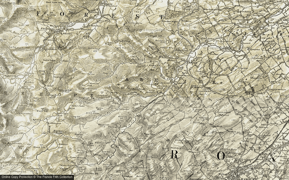Old Map of Historic Map covering Leap Hill in 1901-1904