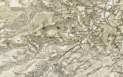 Old map of Leap Hill in 1901-1904