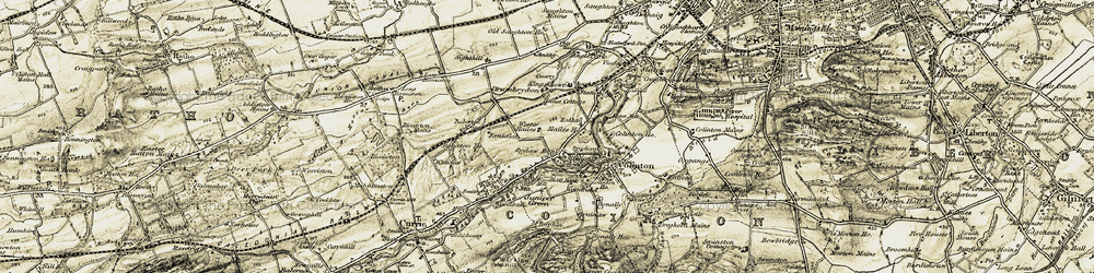 Old map of Wester Hailes in 1903-1904