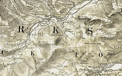 Old map of White Kip in 1904