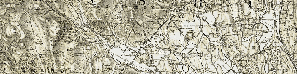 Old map of Wester Parkgate in 1901-1905