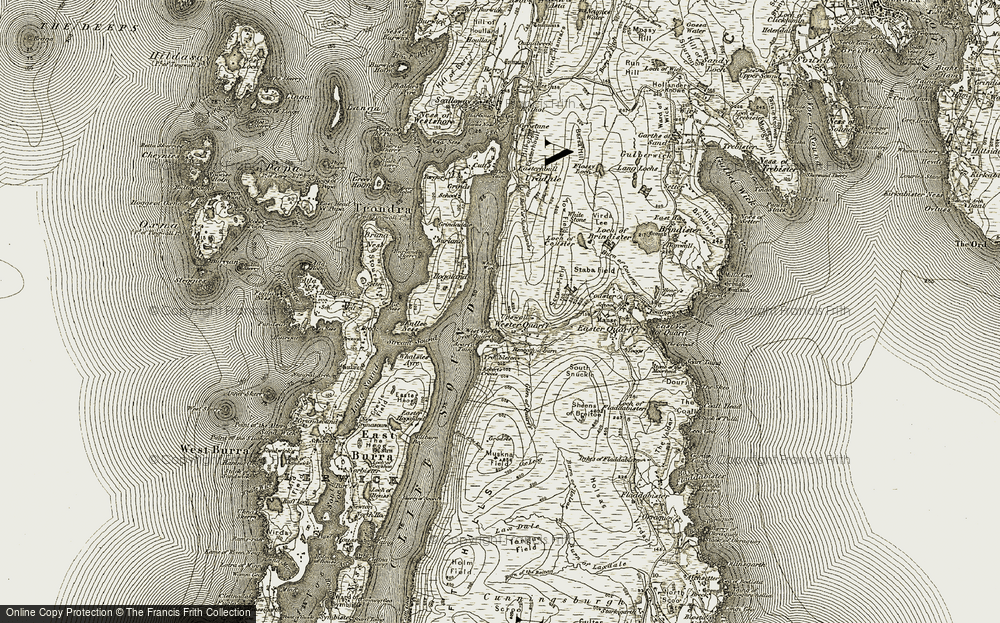 Old Map of Wester Quarff, 1911-1912 in 1911-1912