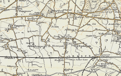 Old map of Westergate in 1897-1899