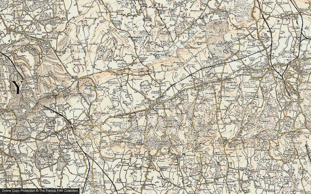 Old Map of Westerham, 1897-1902 in 1897-1902