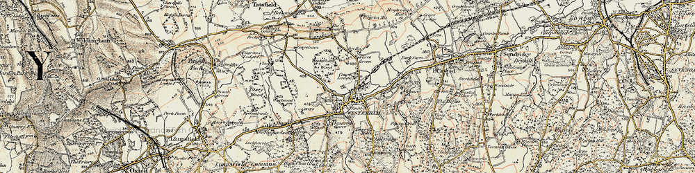 Old map of Westerham Wood in 1897-1902