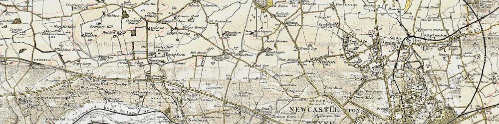 Old map of Westerhope in 1901-1903