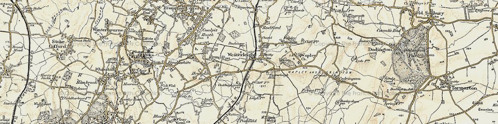 Old map of Westerleigh in 1899