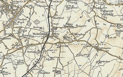 Old map of Westerleigh Hill in 1899