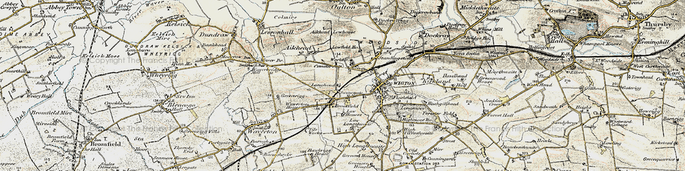 Old map of Western Bank in 1901-1904