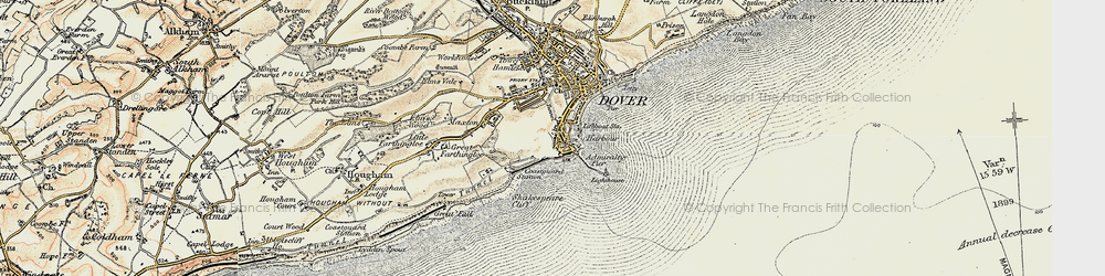 Old map of Western Heights in 1898-1899