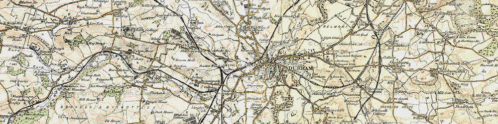 Old map of Western Hill in 1901-1904