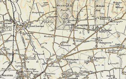 Old map of Westerton in 1897-1899