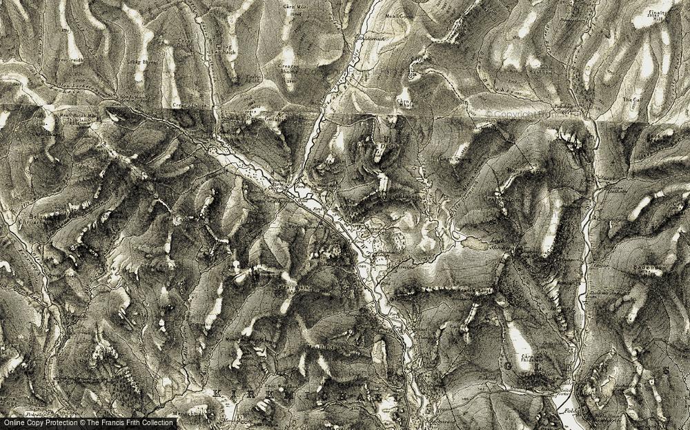 Old Map of Westerton of Runavey, 1908 in 1908