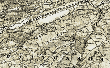 Old map of Westerwood in 1904-1907