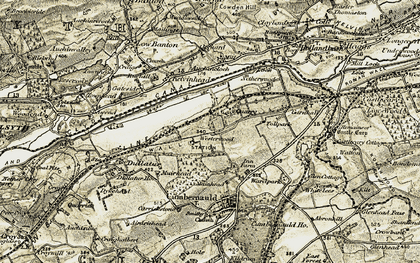 Old map of Auchincloch in 1904-1907