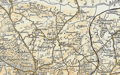 Old map of Whiteland Wood in 1898