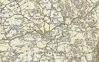 Old map of Westfield in 1899-1901
