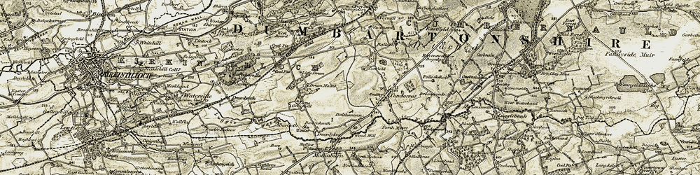Old map of Westfield in 1904-1905