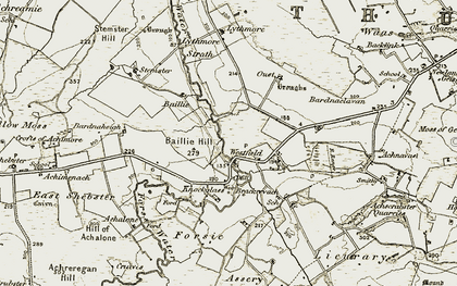 Old map of Baillie in 1911-1912