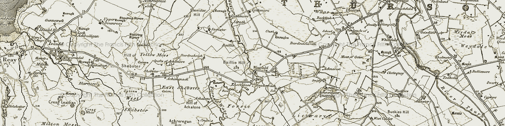 Old map of Westfield in 1911-1912