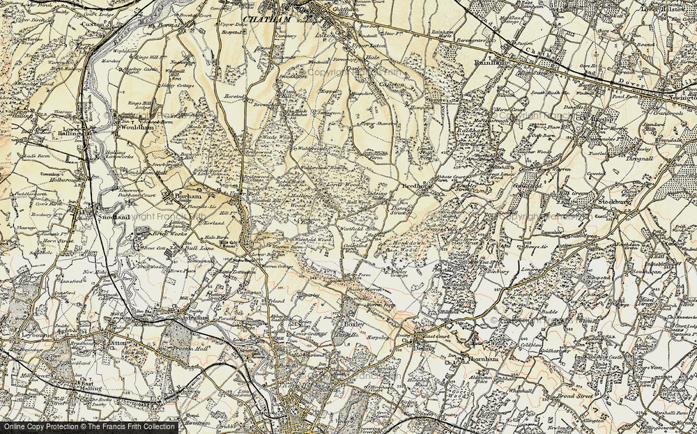Old Maps of Centenary Walk Maidstone Francis Frith