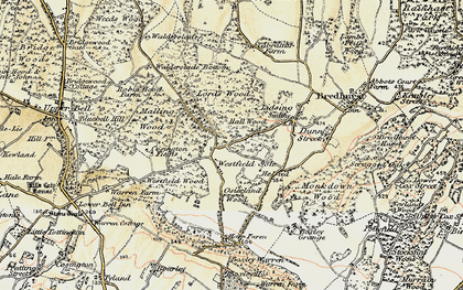 Old map of Westfield Sole in 1897-1898